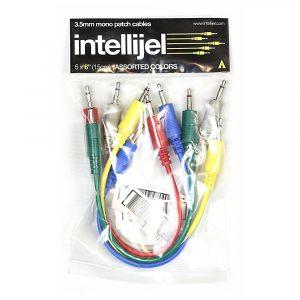Intellijel 3,5mm Patch Cables – 5x PAK Assorted Colors 6″ (15cm)