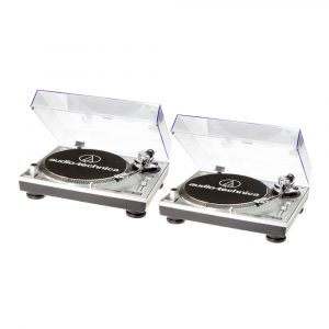 Audio Technica AT-LP120-USB HC Silver in Coppia