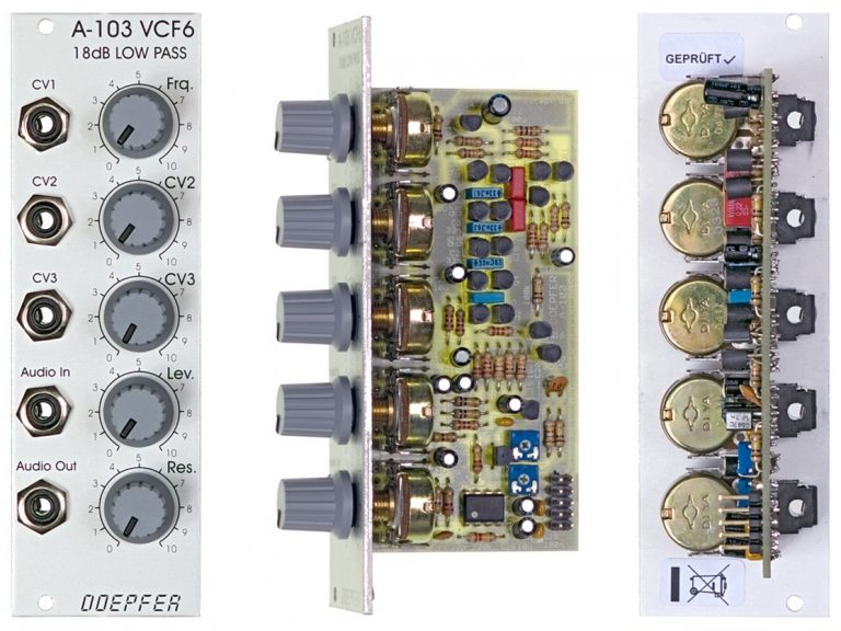 Doepfer A-103 18dB Low Pass Filter VCF6