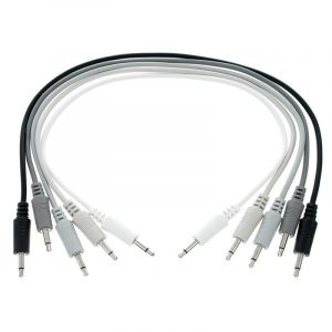 Intellijel 3,5mm Patch Cables – 5x PAK Assorted Colors 18″ (45cm) Grey Scale