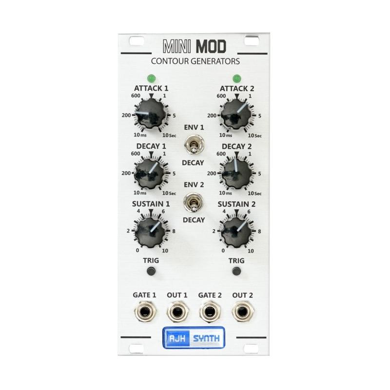 AJH Synth MiniMod DUAL CONTOUR GENERATORS Silver