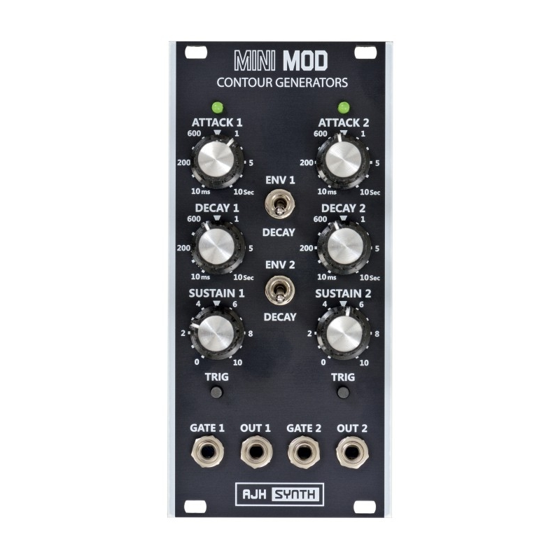 AJH Synth MiniMod DUAL CONTOUR GENERATORS Black