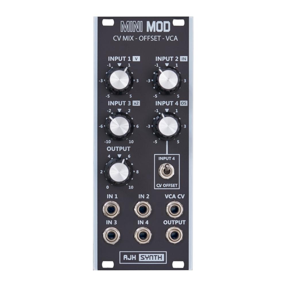 AJH Synth MiniMod CV Mixer - Offset - VCA Black