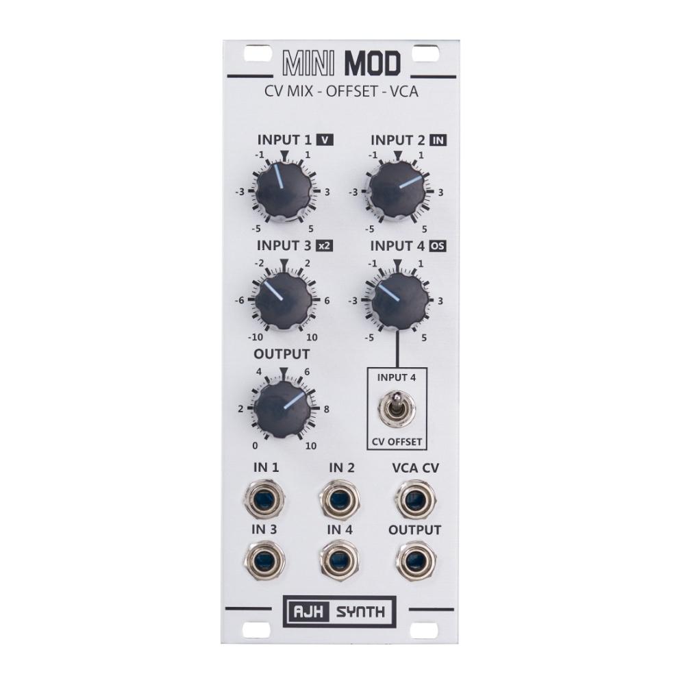 AJH Synth MiniMod CV Mixer - Offset - VCA Silver