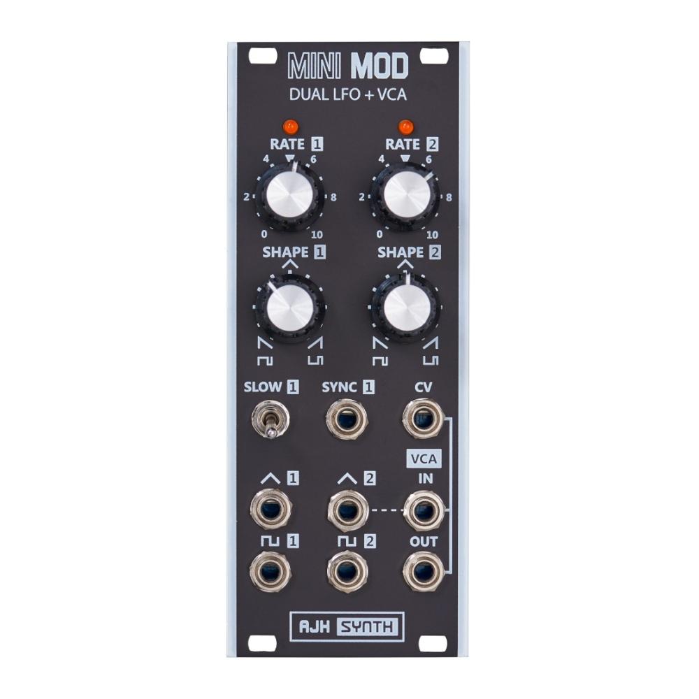 AJH Synth MiniMod DUAL LFO + VCA Black