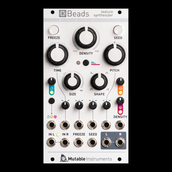 Mutable Instruments Beads texture synthesizer black
